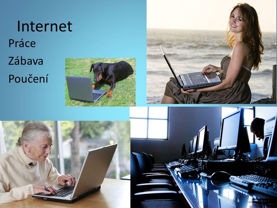 Internet Práce Zábava Poučení