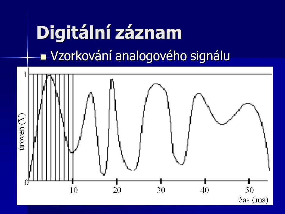 11 Digitální záznam Vzorkování analogového signálu Vzorkování analogového signálu