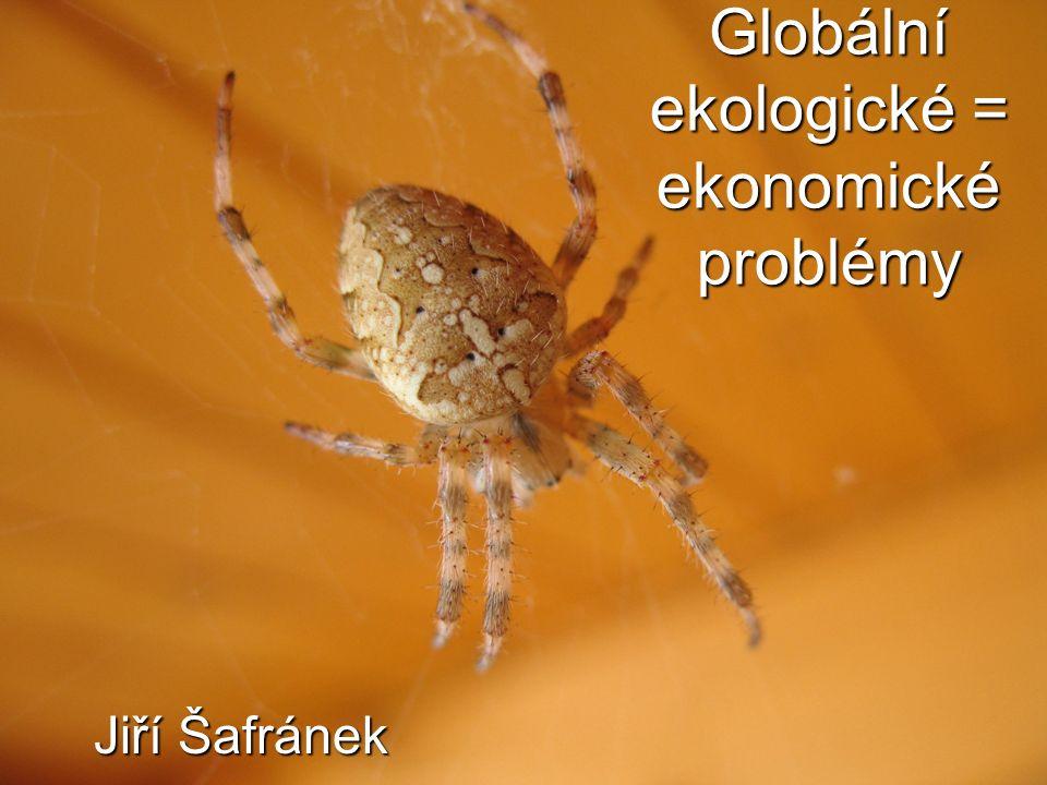 Globální ekologické = ekonomické problémy Jiří Šafránek