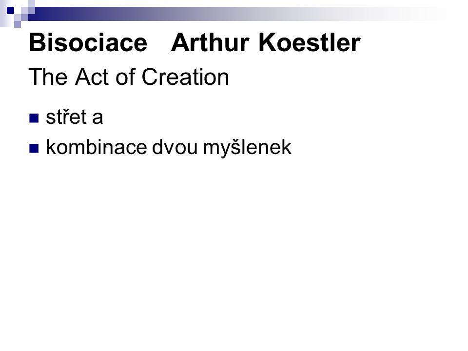 Bisociace Arthur Koestler The Act of Creation střet a kombinace dvou myšlenek