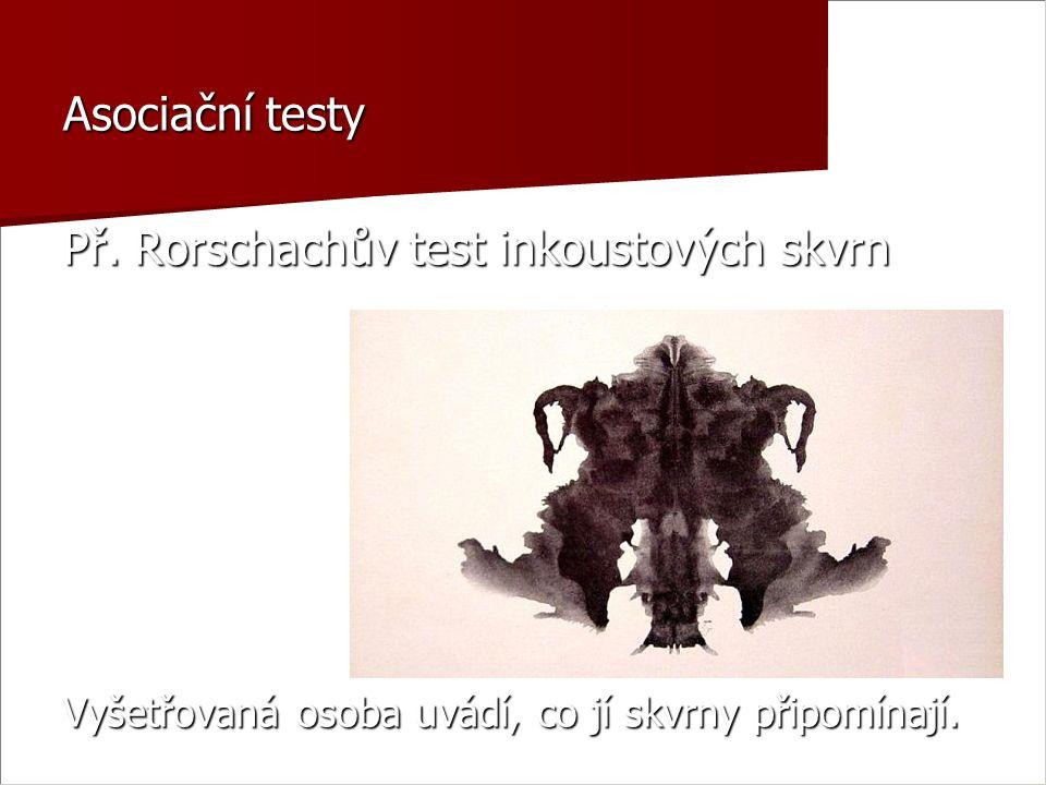 Asociační testy Př.