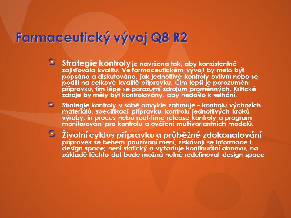 Farmaceutický vývoj Q8 R2 Strategie kontroly je navržena tak, aby konzistentně zajišťovala kvalitu.