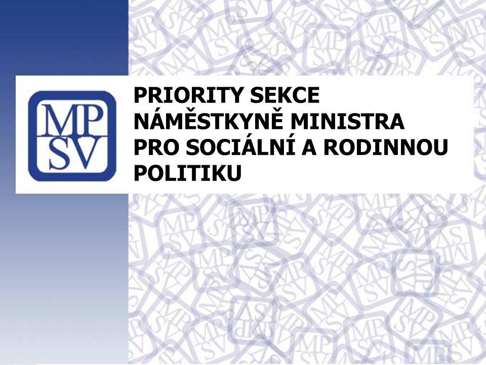 1 PRIORITY SEKCE NÁMĚSTKYNĚ MINISTRA PRO SOCIÁLNÍ A RODINNOU POLITIKU