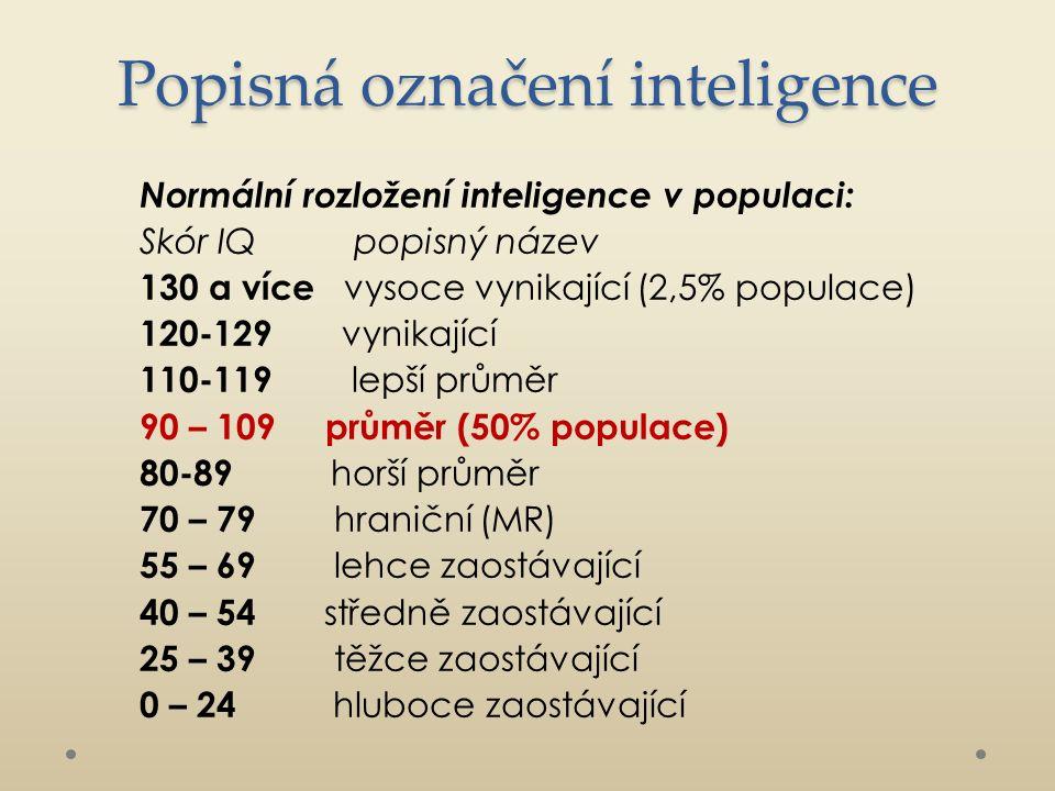 Struktura inteligence Obecná inteligence (Spearman) Současné přístupy Sedm individuálních inteligencí (Gardner) Triarchický přístup (Sternberg) Emocionální inteligence (Goleman)