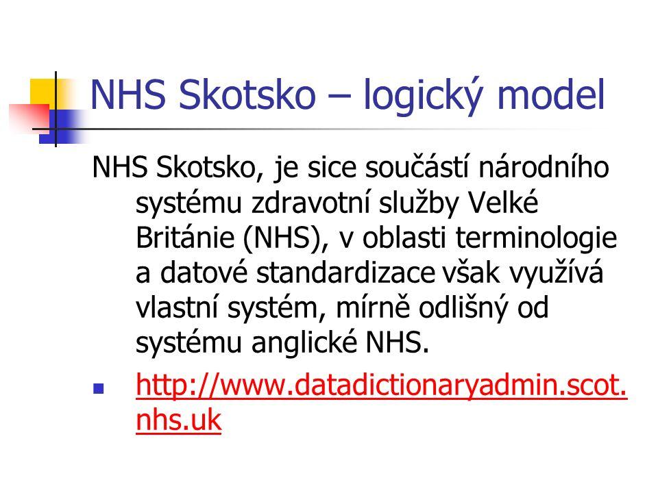 NHS Skotsko – logický model NHS Skotsko, je sice součástí národního systému zdravotní služby Velké Británie (NHS), v oblasti terminologie a datové standardizace však využívá vlastní systém, mírně odlišný od systému anglické NHS.