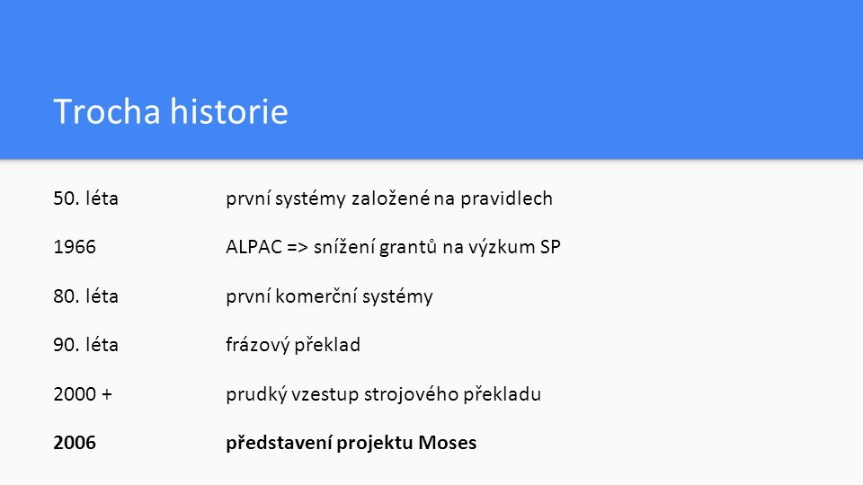 Co je to Moses?