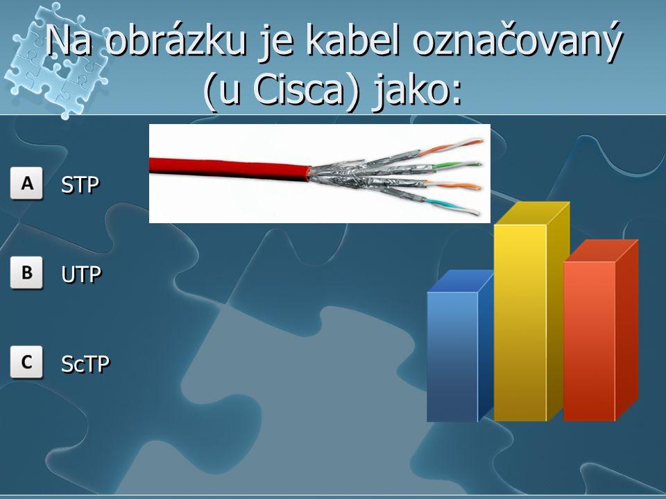 Na obrázku je kabel označovaný (u Cisca) jako: STP UTP ScTP