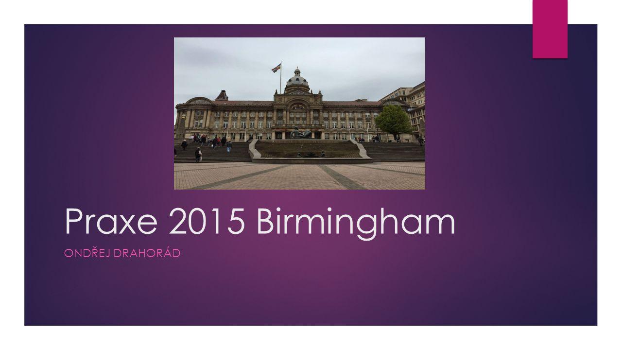 Praxe 2015 Birmingham ONDŘEJ DRAHORÁD