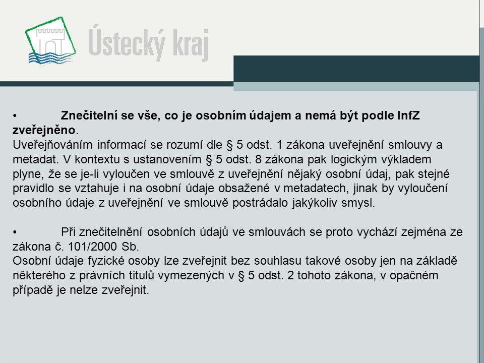 Znečitelní se vše, co je osobním údajem a nemá být podle InfZ zveřejněno.