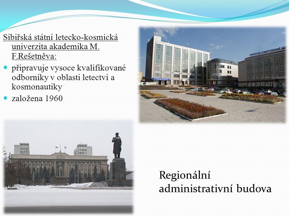 Sibiřská státní letecko-kosmická univerzita akademika M. F.Rešetněva: připravuje vysoce kvalifikované odborníky v oblasti letectví a kosmonautiky zalo