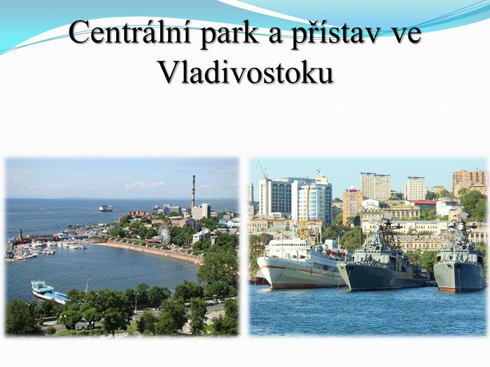Centrální park a přístav ve Vladivostoku