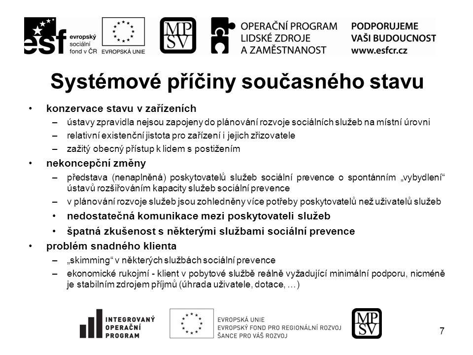Pozitivní kroky a trendy změny v zařízení Horní Poustevna realizované od konce 80.
