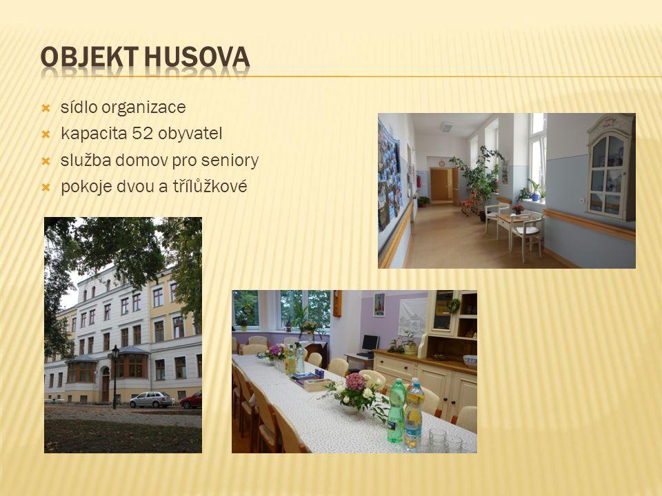  sídlo organizace  kapacita 52 obyvatel  služba domov pro seniory  pokoje dvou a třílůžkové