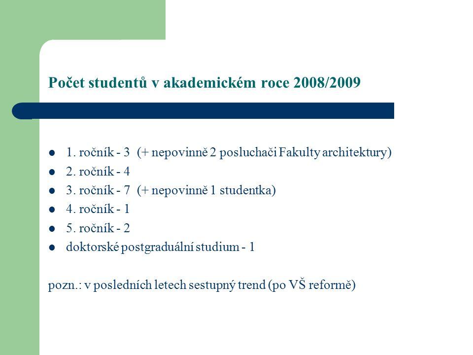 Počet studentů v akademickém roce 2008/2009 1.