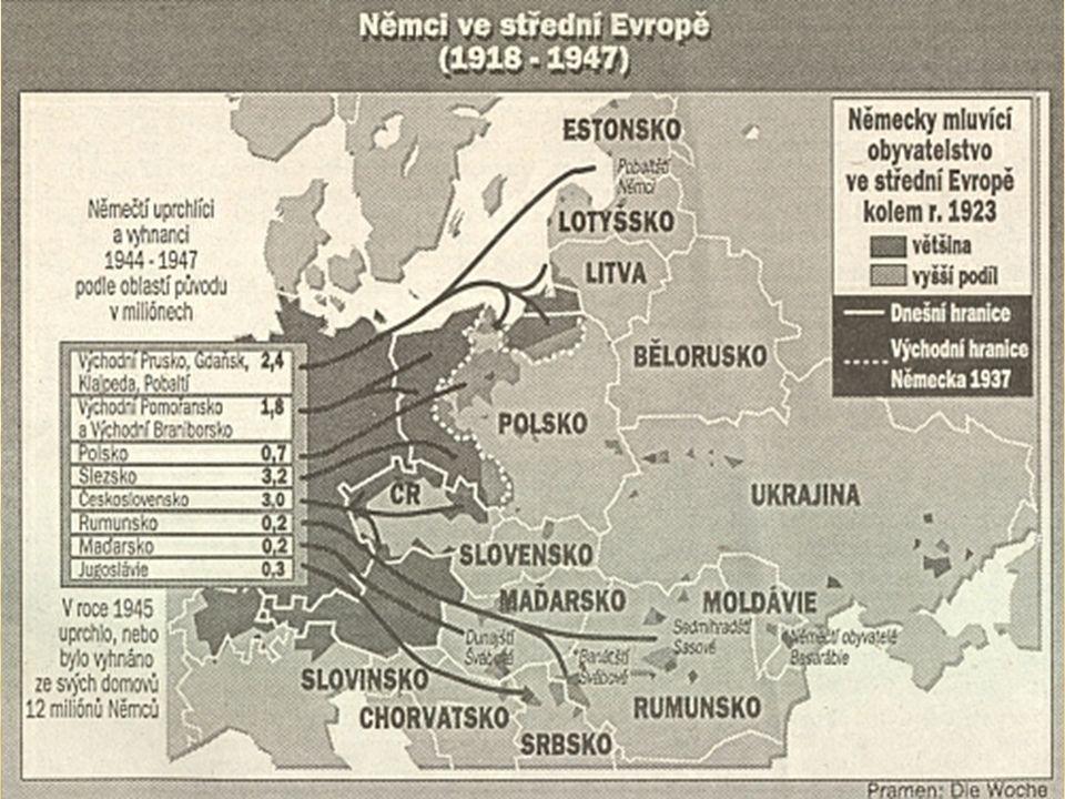  Deportace jsou vykládány jako akt spravedlivé odplaty za postoj sudetských Němců k předválečnému Československu, za kolaboraci s nacismem, za nepřátelský vztah vůči českému obyvatelstvu před válkou i během ní.
