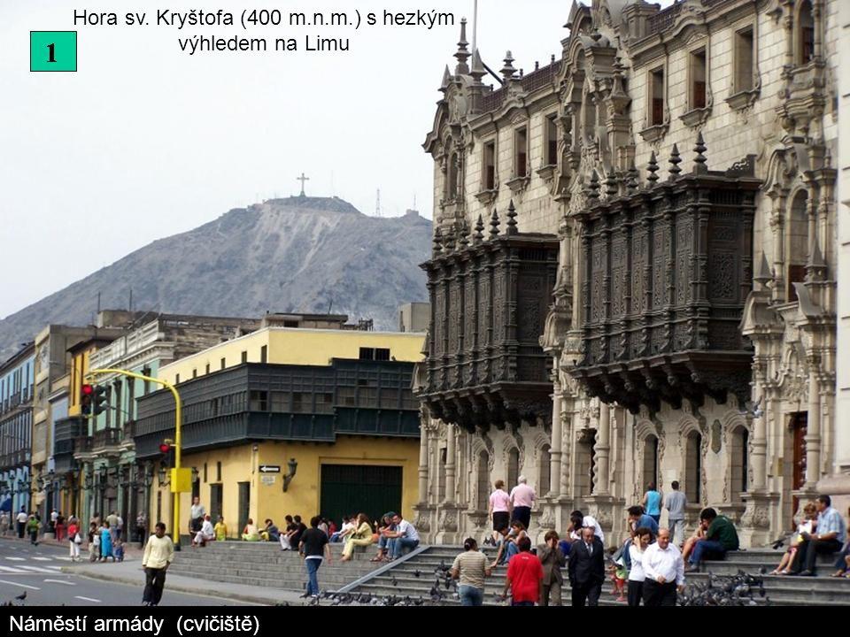 Hora sv. Kryštofa (400 m.n.m.) s hezkým výhledem na Limu Náměstí armády (cvičiště)
