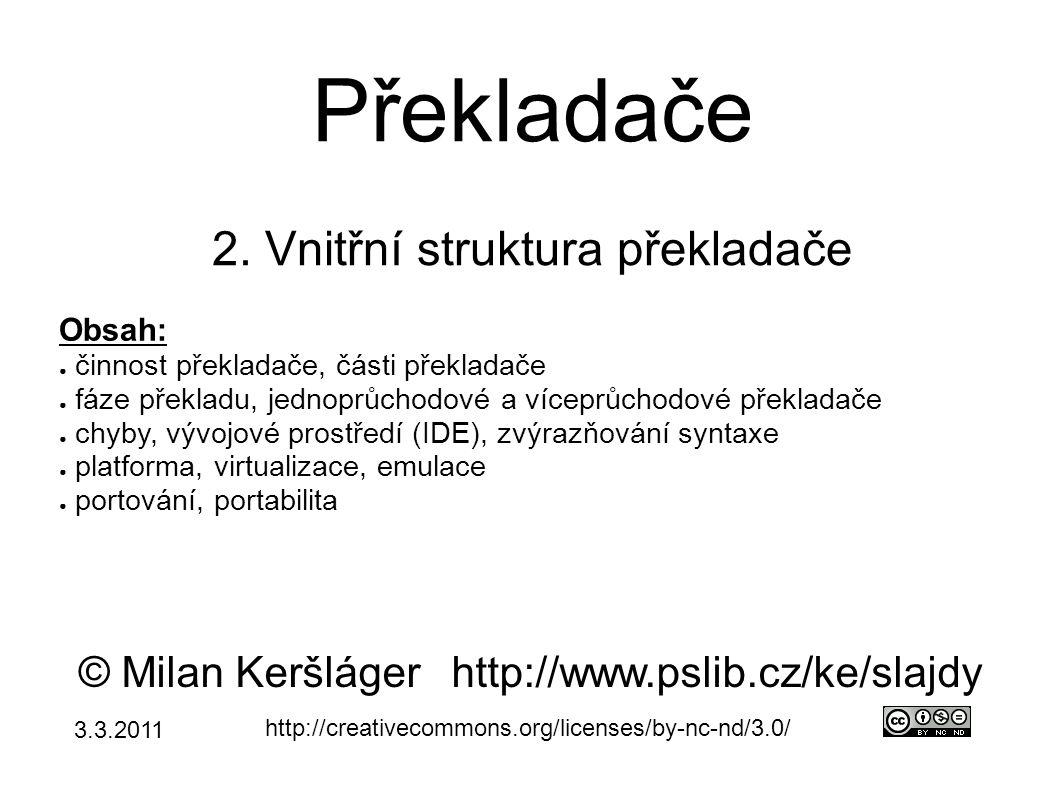 Překladače 2.