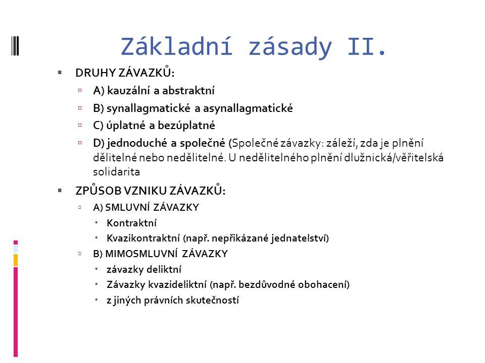 Základní zásady II.