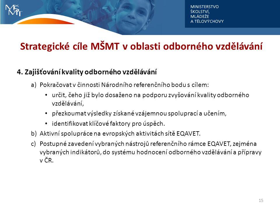 Strategické cíle MŠMT v oblasti odborného vzdělávání 4.