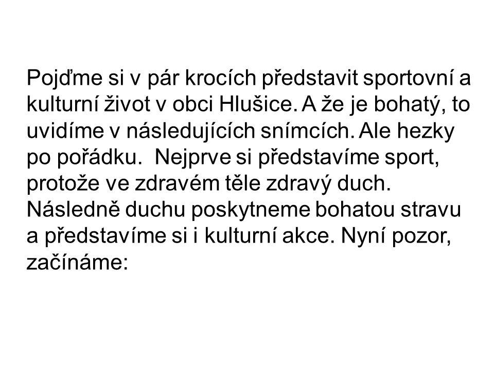 Pojďme si v pár krocích představit sportovní a kulturní život v obci Hlušice.