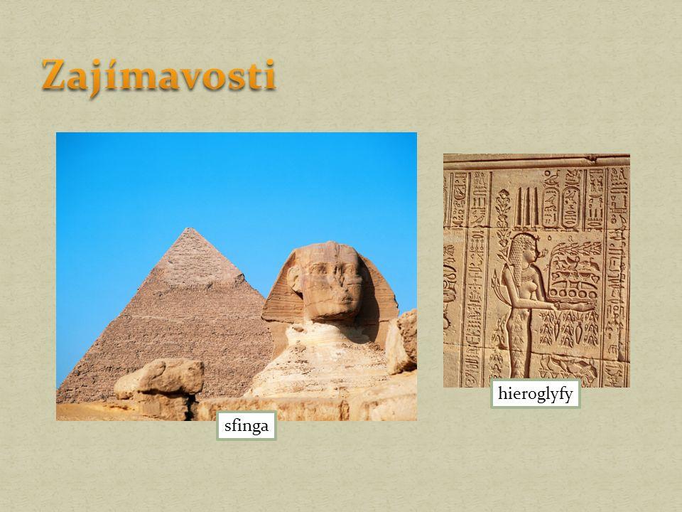 sfinga hieroglyfy