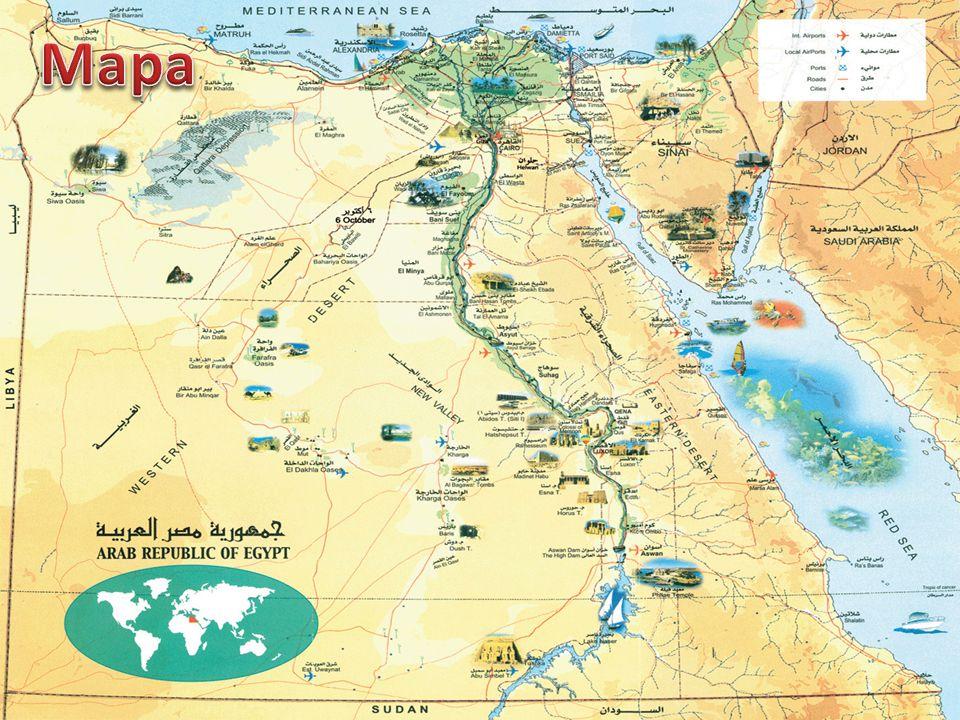 Rozd ě lení starov ě ký Egypt - rozlehlá oáza v povodí ř eky Nil (dlouhá a´ 2 000 km a široká a´20 km) H orní Egypt (na jihu) Dolní Egypt (na severu - delta)
