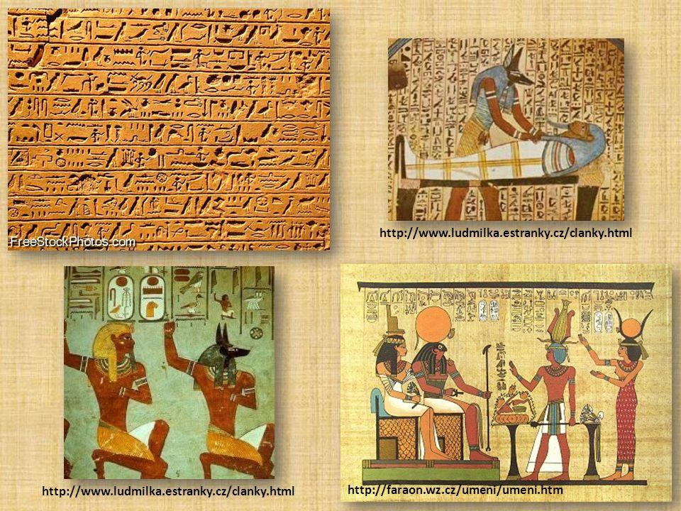 http://faraon.wz.cz/umeni/umeni.htm http://www.ludmilka.estranky.cz/clanky.html