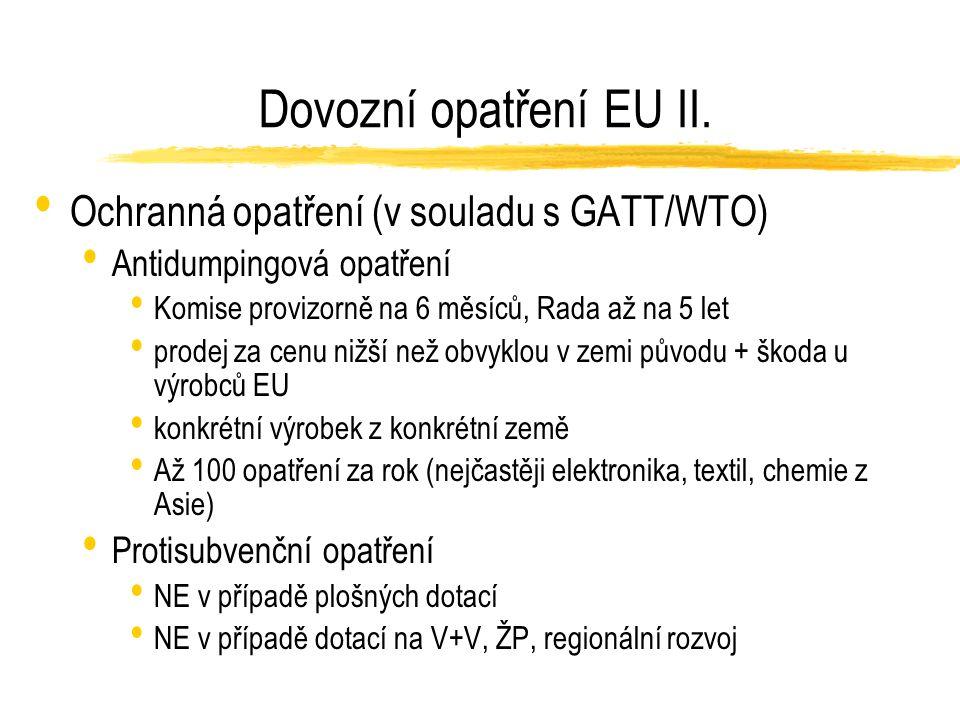 Dovozní opatření EU II.