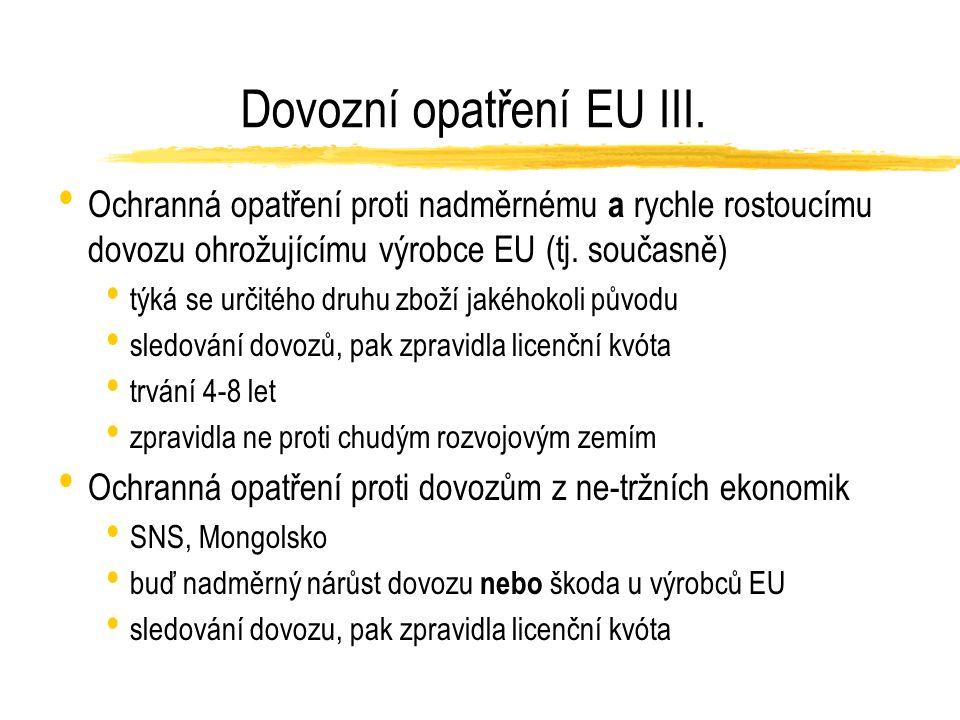 Dovozní opatření EU III.