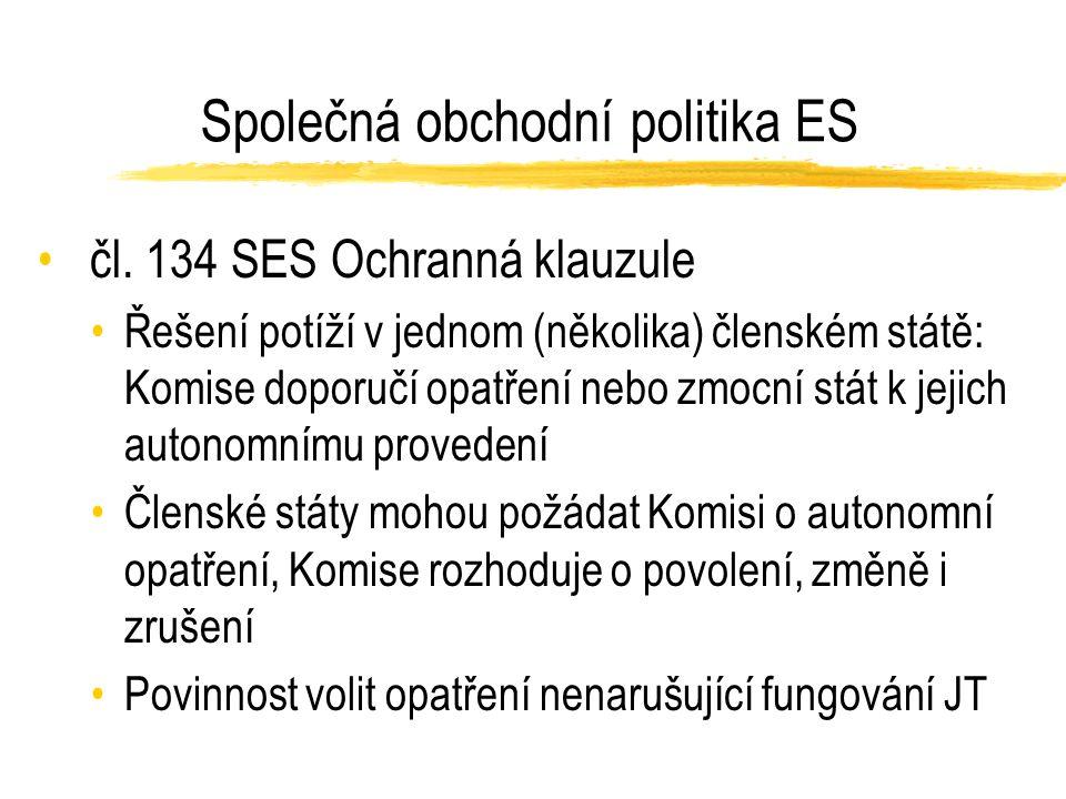Společná obchodní politika ES čl.