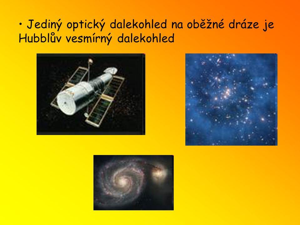 Jediný optický dalekohled na oběžné dráze je Hubblův vesmírný dalekohled