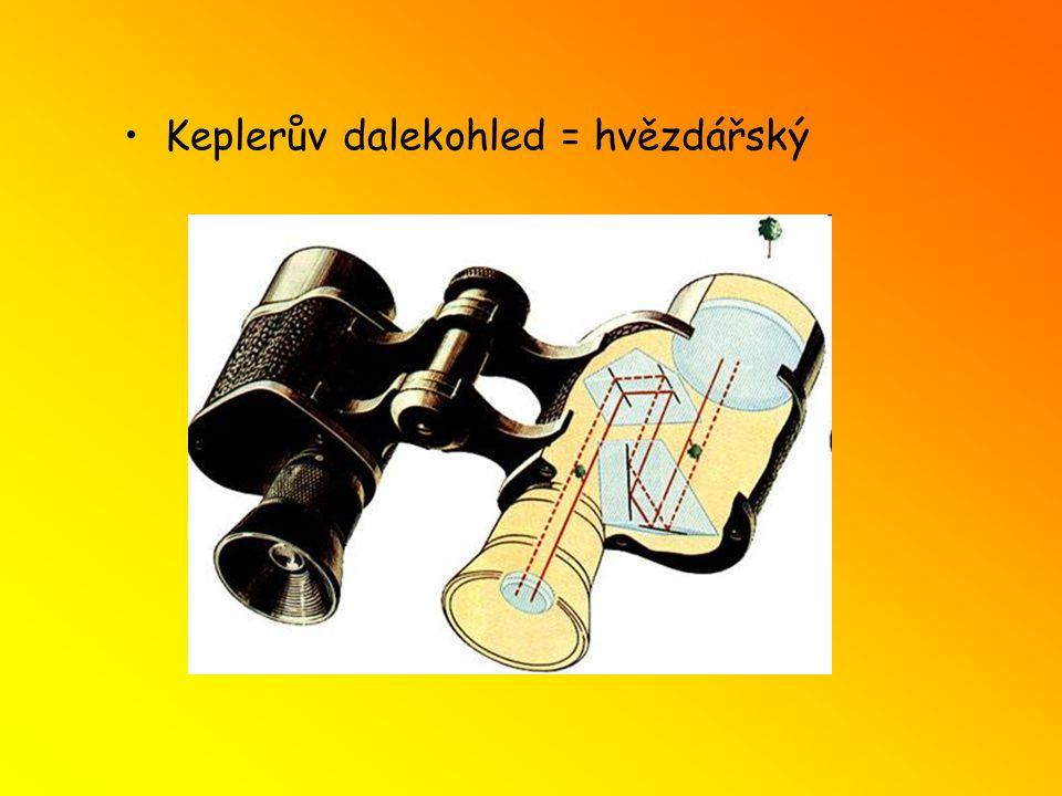Galileův dalekohled využívá se jako divadelní kukátko spojka a rozptylka