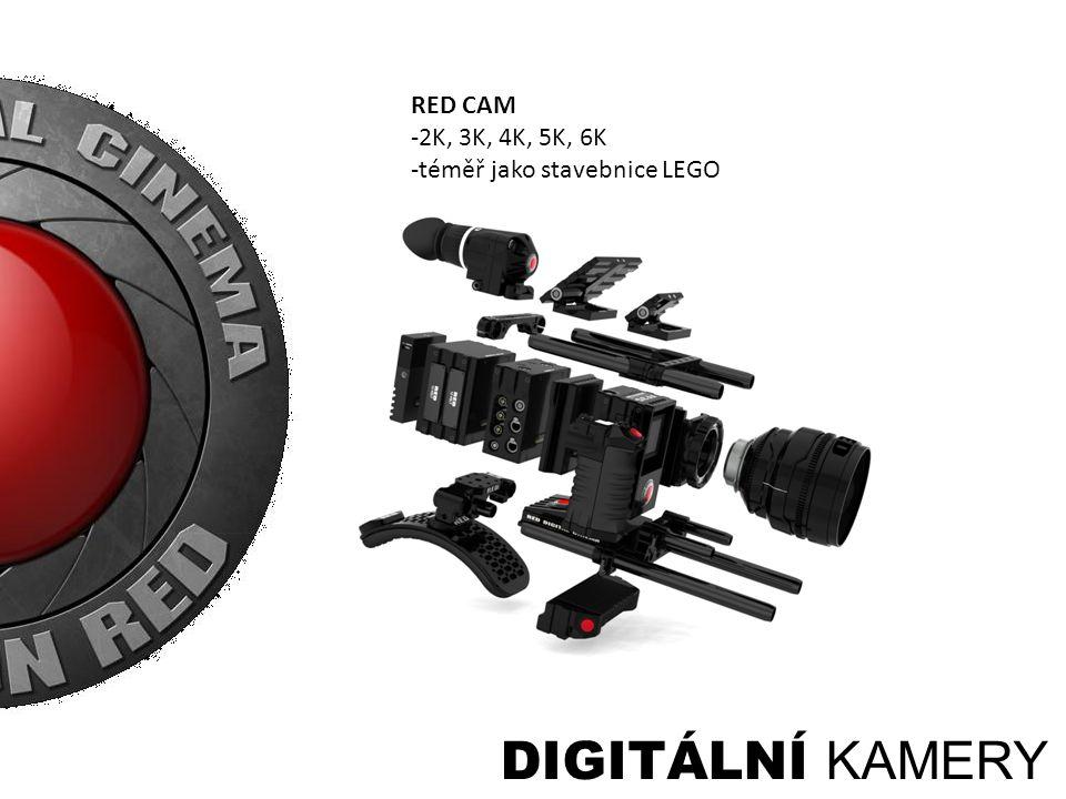 DIGITÁLNÍ KAMERY RED CAM -2K, 3K, 4K, 5K, 6K -téměř jako stavebnice LEGO