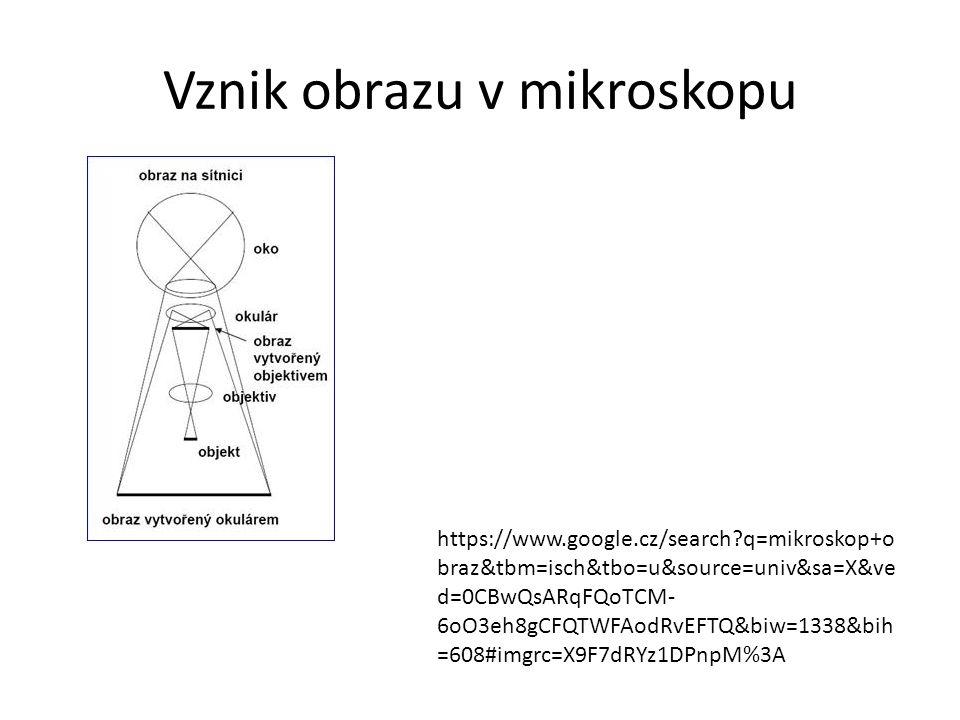 Vznik obrazu v mikroskopu https://www.google.cz/search?q=mikroskop+o braz&tbm=isch&tbo=u&source=univ&sa=X&ve d=0CBwQsARqFQoTCM- 6oO3eh8gCFQTWFAodRvEFT