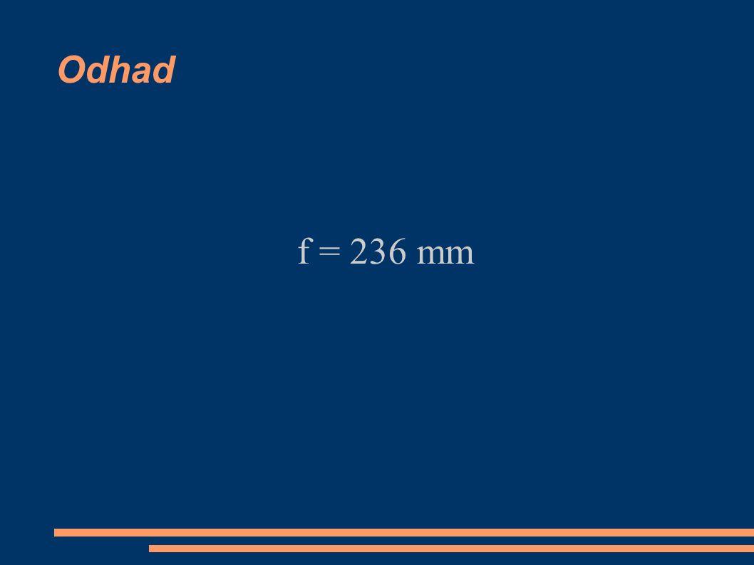 Odhad f = 236 mm