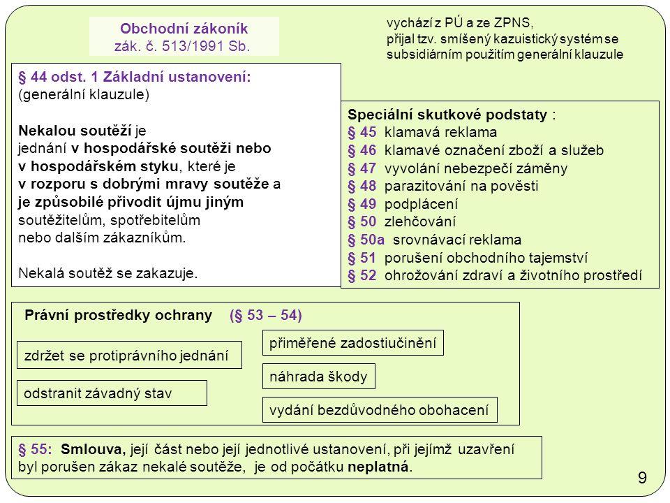 Obchodní zákoník zák. č. 513/1991 Sb. § 44 odst.