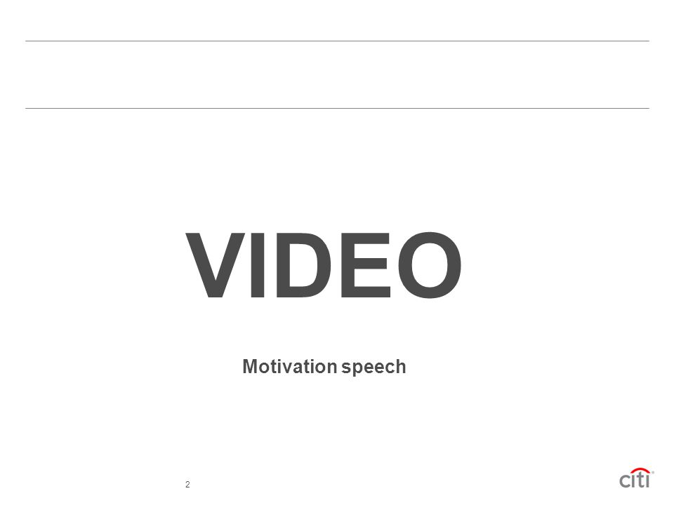 VIDEO Motivation speech 2