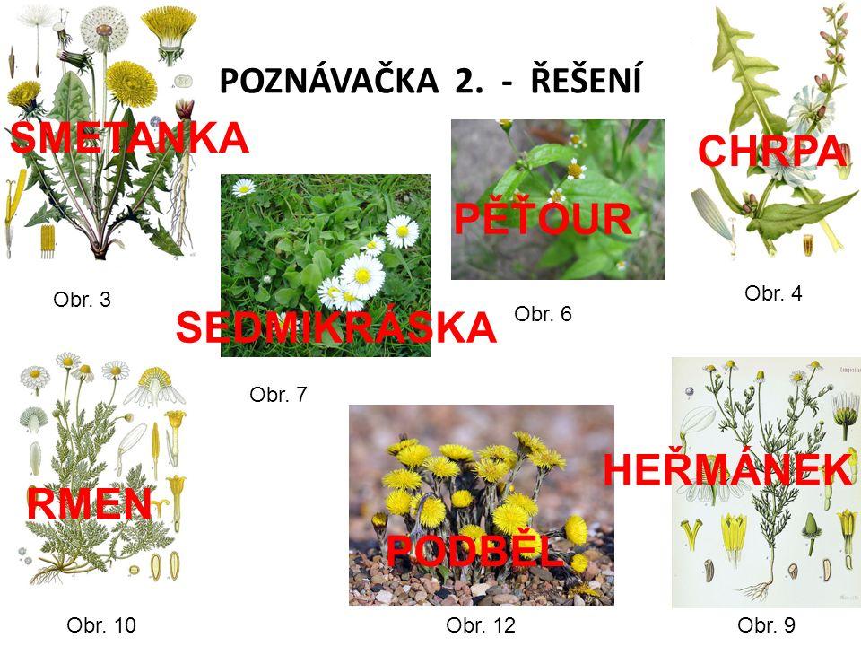 POZNÁVAČKA 2. - ŘEŠENÍ Obr. 3 Obr. 4 Obr. 6 Obr.