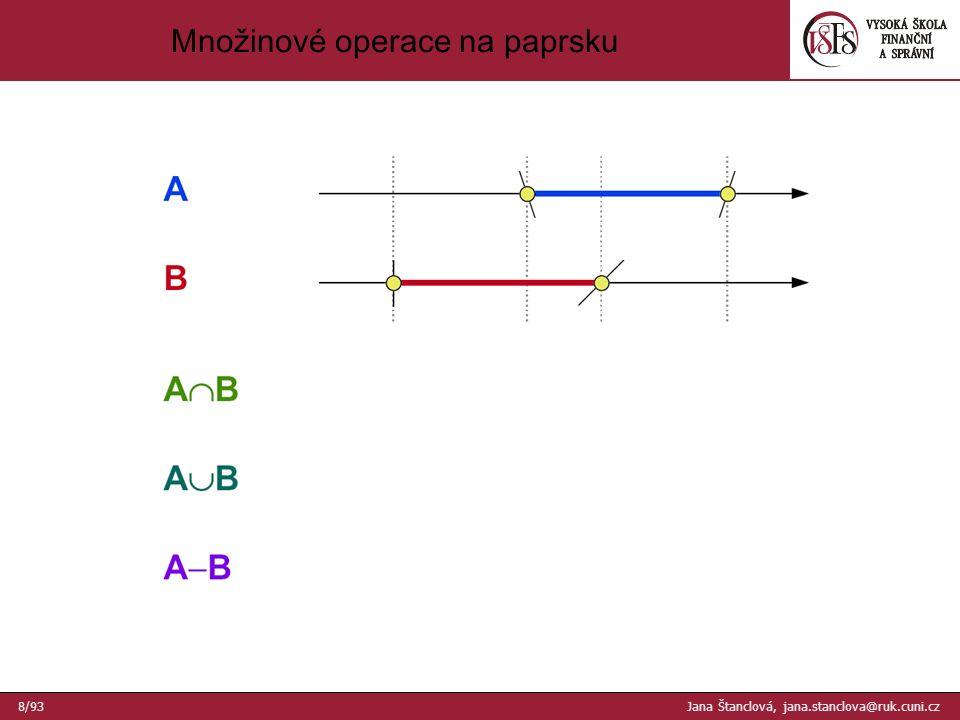 Množinové operace na paprsku 8/93 Jana Štanclová, jana.stanclova@ruk.cuni.cz