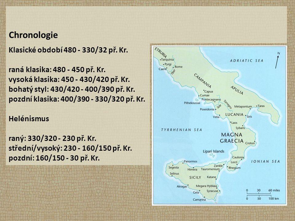 Chronologie Klasické období 480 - 330/32 př. Kr. raná klasika: 480 - 450 př.