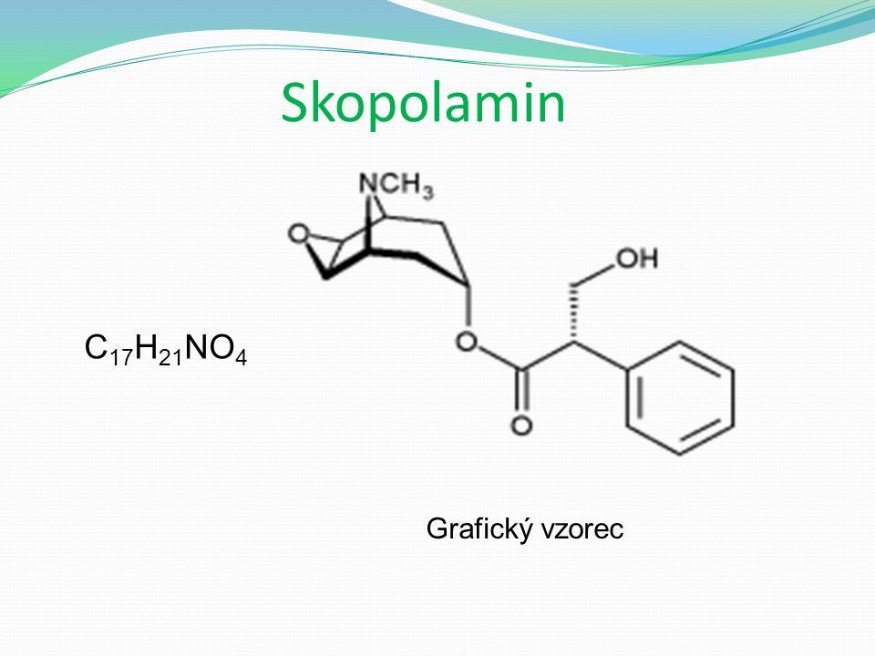 Skopolamin Grafický vzorec C 17 H 21 NO 4