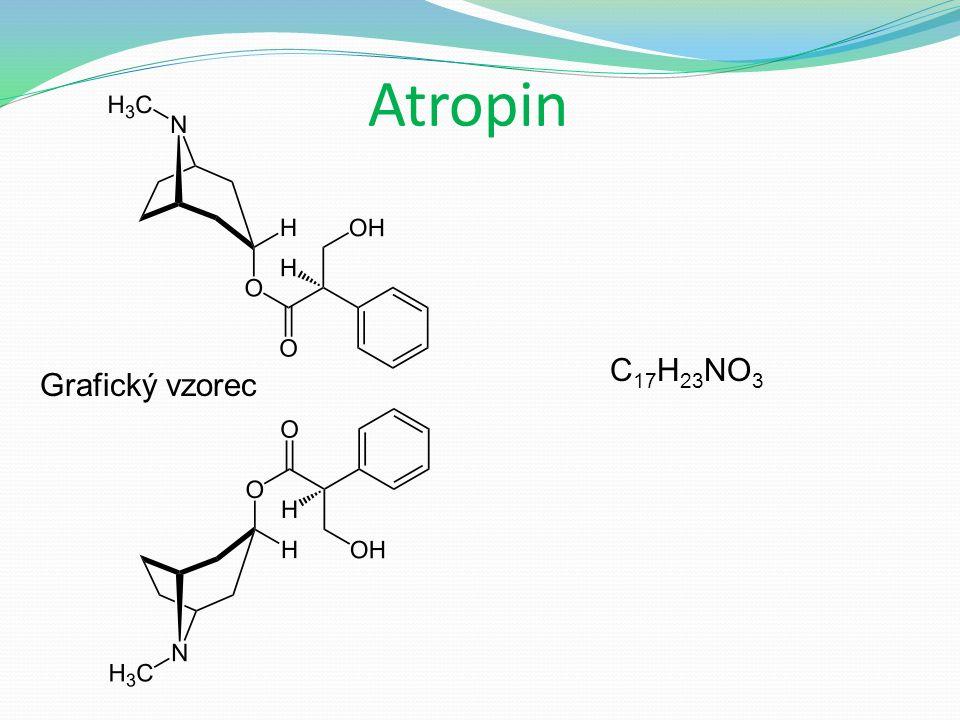 Atropin Grafický vzorec C 17 H 23 NO 3