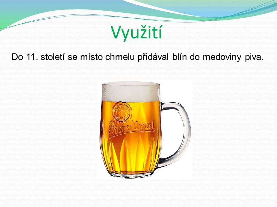 Využití Do 11. století se místo chmelu přidával blín do medoviny piva.