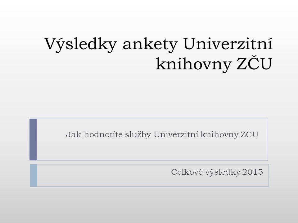 Výsledky ankety Univerzitní knihovny ZČU Jak hodnotíte služby Univerzitní knihovny ZČU Celkové výsledky 2015