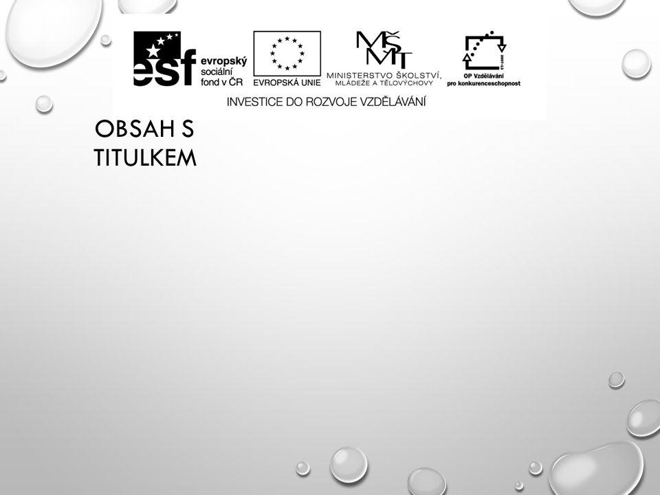 OBSAH S TITULKEM
