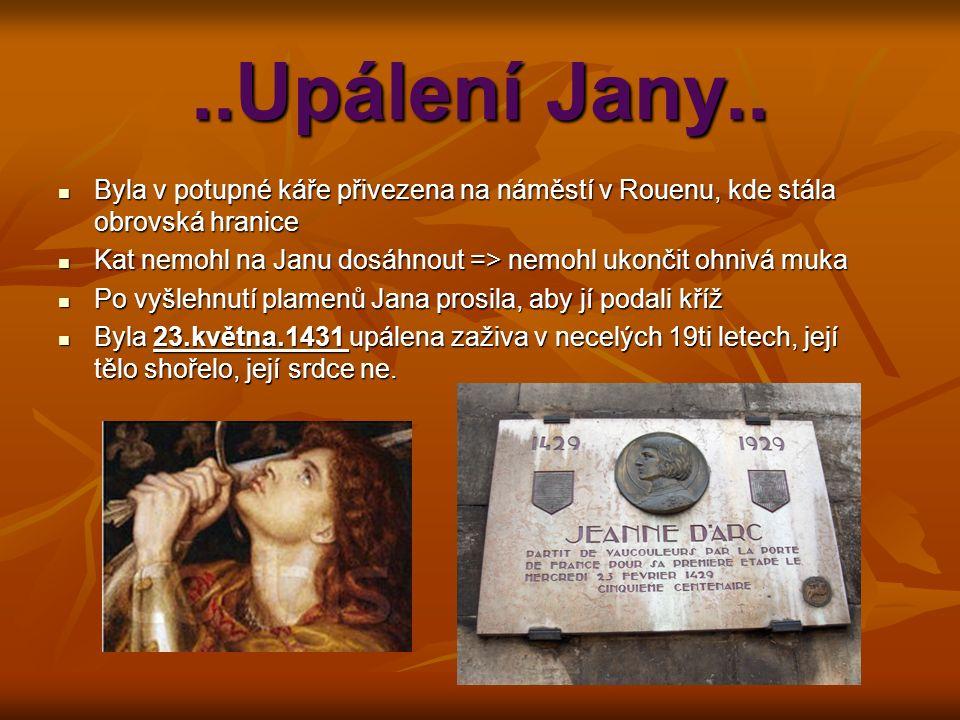 ..Upálení Jany..