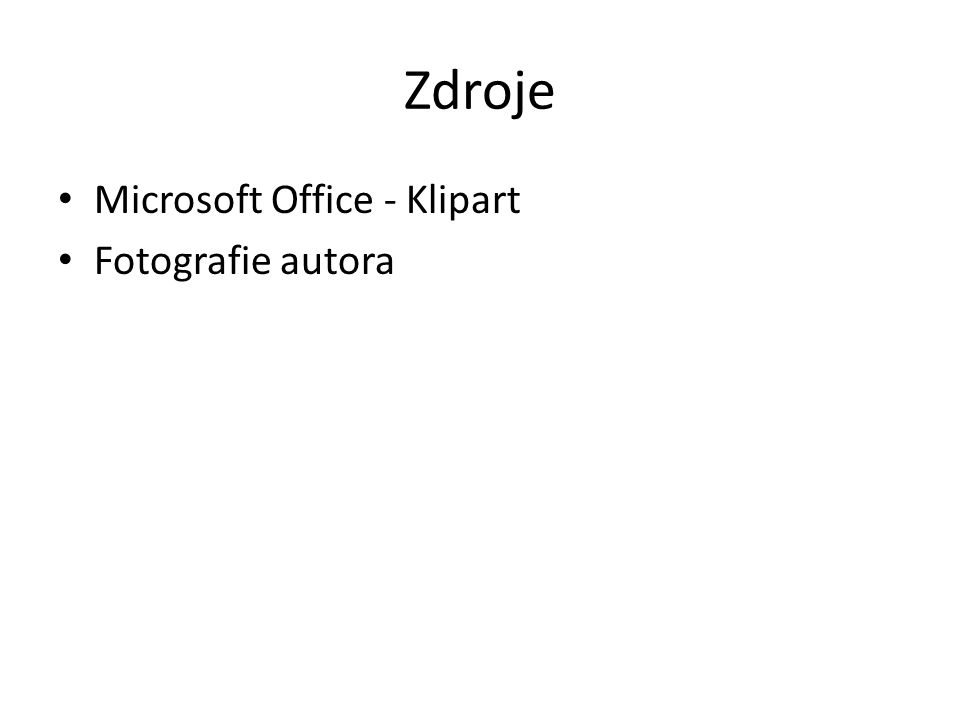 Zdroje Microsoft Office - Klipart Fotografie autora