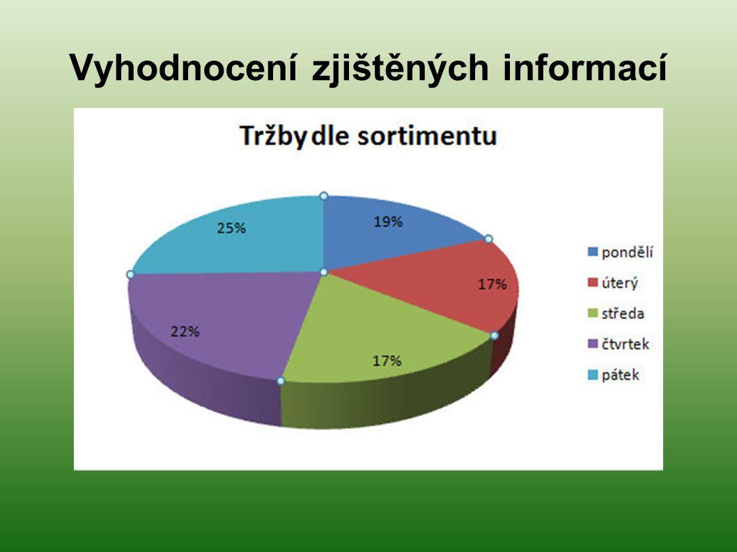 Vyhodnocení zjištěných informací