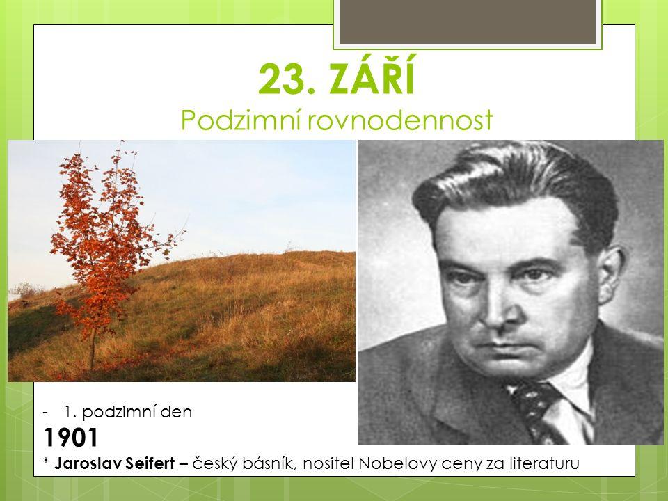23. ZÁŘÍ Podzimní rovnodennost -1.