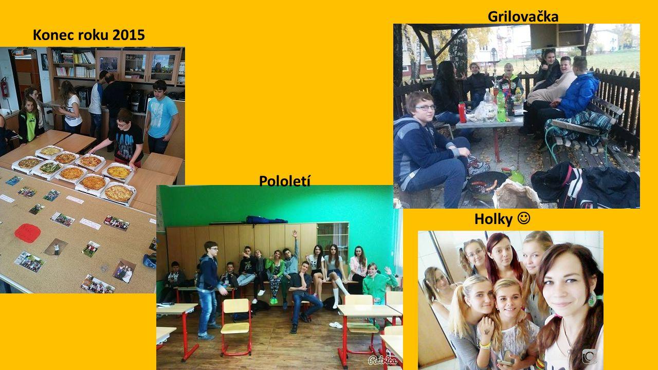 Konec roku 2015 Holky Pololetí Grilovačka